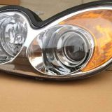 For 02-05 Sonata Clear Projector Headlights Head Lights Lamps+Amber Reflector