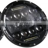 "New Cheap price Auto 75w 12v C ree Lo/Hi beam round headlight housing assembly h4 7"" led driving lights for cars motorcycles"