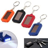 Promotion 3 LED Rechargeable Solar Powered LED Keychain Torch Flashlight for Outdoor Emergency Light