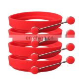 Food grade silicone Round Omelette with handle