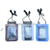 Swimming Beach Case PVC Diving Waterproof Bag with Earphone For iPhone4 4S 5 waterproof plastic bag