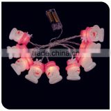 10LED light up christmas cartoon snowman with hat decorative lights 2015 new design