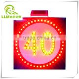 Direct manufacture LED traffic speed limit warning solar sign board