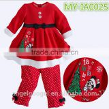 Child christmas clothing girl dress, shoes,hair band and Christmas stockings MY-IA0025