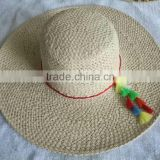 customized Lady Fuchsia Sea Beach Bulk Straw Cowboy Hats