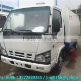 Euro IV QingLing ISUZ 4x2 street cleaner truck mounted street sweeper for sale