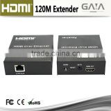 HDMI Extender over 100m 120M Cat5e/Cat6 Ethernet Cable with Bi-directional IR Remote Control and Smart EDID Management