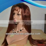 Wholesale Supplier tangle free stock european virgin hair long blonde human hair full lace wig
