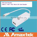 Amaxtek Micro USB OTG Connection Kit and 3 in 1 Card Reader for Andorid Phone