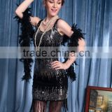 Bling-bling Fashion Queen Black Tassel Dance Dress At the Ball