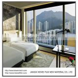 6+6mm Switchable smart glass for hotel, Turn off matte white for privacy