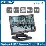 Professional Stand USB Interface Touch screen Monitor