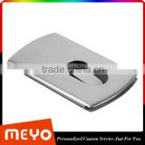 Polished aluminum metal card holder for business gift