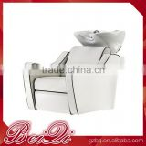 White portable reclining used massage shampoo chair hair salon wash basin furniture wholesale supplies