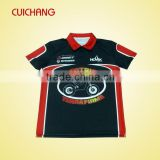 custom sublimation printed polo bowling shirts