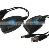 Video transmission Via UTP CAT5 UTP Video Balun, single ch power-video transmitter and receiver Distance:330M (SU-101PV)