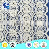 Global Elastic Fashionable navy blue lace dress fabric
