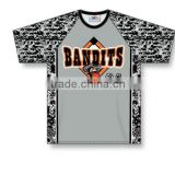 Custom Sublimated Half Sleeves O-Neck Bandits Baseball Jersey/T-Shirt made of Moisture Wicking Cool Polyester fabric
