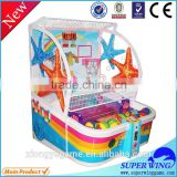 Superwing coin push funny shooting ball basketball arcade game machine for kids