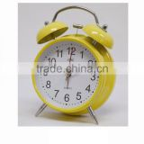quartz analog table clock, twin bell alarm clock, metal bell clock