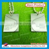 DOG TAGS WITH CHAIN CUSTOM SHAPE DOG TAG