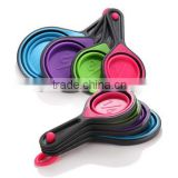 4-Piece Set collapsible silicone spoon & Measuring Cup