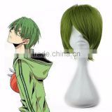 Wholesale Price 13 Inches Green Short Anime Role Kuroko no Basuke Midorima Shintaro Cosplay Wig