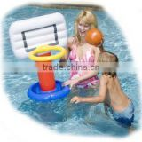 Colourful PVC Inflatable Pool Basketball Hoop