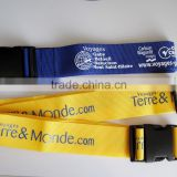 Custom luggage belt with plastic buckle + tri-glide buckle/travel luggage belt