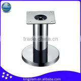 80-120mm height stainless steel round sofa/bed feet hardware, sofa fittings parts