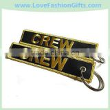 Crew Embroidery Keychain/Key tag /Key Fob,Embroidery Fabric Key Chain
