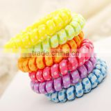Hot Sell Telephone Cord 3 pcs/lot Ponytail Holders Elastic Hair Bands for Girls Headwear Accessories