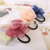 Fashion Korean Rose Flower Headband Hair Ring Rope Elastic Bands Women Hair Accessories 6 Colors