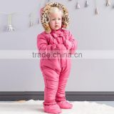 DB981 dave bella 2014 autumn winter infant clothes baby one-piece baby sleeping wear baby winter romper bosysuit