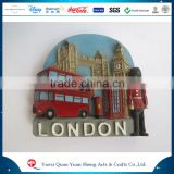 [ Factory Price ]PVC Polyresin 2016 New Design European Souvenir Customized Resin London City Bus Mailbox Postbox Fridge Magnet