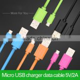 Micro USB 2.0 cable charging and sync data cable for Samsung Galaxy S3 S4 I9500 HTC Android Smart Phone