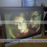 DEFI best price rear projection film dark gray color size 6 square meters (4m * 1.524m) and free A4 sample for different color