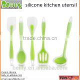 5 Piece Premium Silicone Kitchen Baking Set - Spatulas, Spoons & Turner - Heat Resistant Cooking Utensil