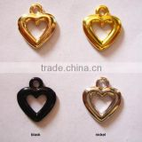 gold color heart shape pendant
