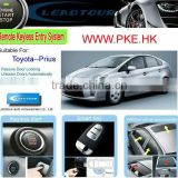 Passive Keyless Entry Car Alarm with Remote Control Engine Starer and Push Start Button System for Toyota Prius