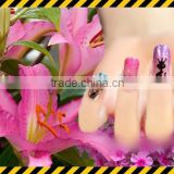gorgeous led nail stickers-----with blue&pink&white shining nail art,nfc induction nail decor 2015