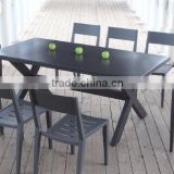Foshan factory hot sale black color dining set outdoor wholesale furniture