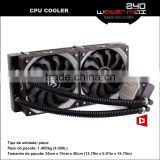 Alseye AA0202 manufacture copper cpu heat sink cooled MAX240 cpu water cooler liquid 120x120x25mm fan
