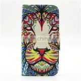 personalized animal design flip pattern PU leather case for samsung S6