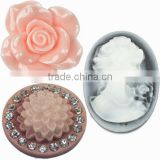 Resin flat back cabochon Resin Cameo