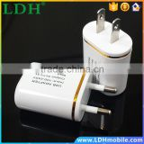 Durable High Speed Charging European/USA Plug Travel Wall USB Charger Adapter for Apple iPhone 4S 5S 6 6Plus Android Phones