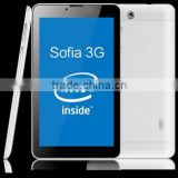 2015 new 7 Inch Android 4.4 KitKat 3G Tablet PC 4GB Sofia 3230 Dual core 1.2GHz wifi BT GPS