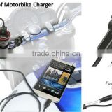 LTP new product Waterproof motorcycle usb charger adapter for smartphones cellphone Motorbike Car chargers