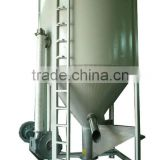Vertical plastic granular blender with heating and drying