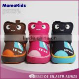 2014 beautiful design cheap funny cartoon baby boots